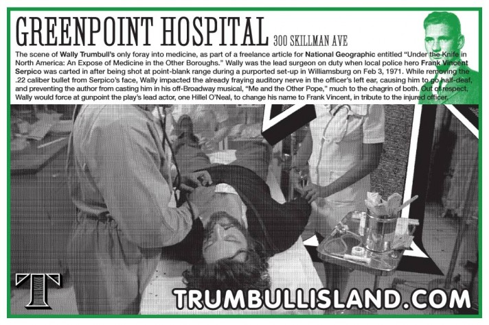frank vincent serpico greenpoint hospital wally trumbull island new york